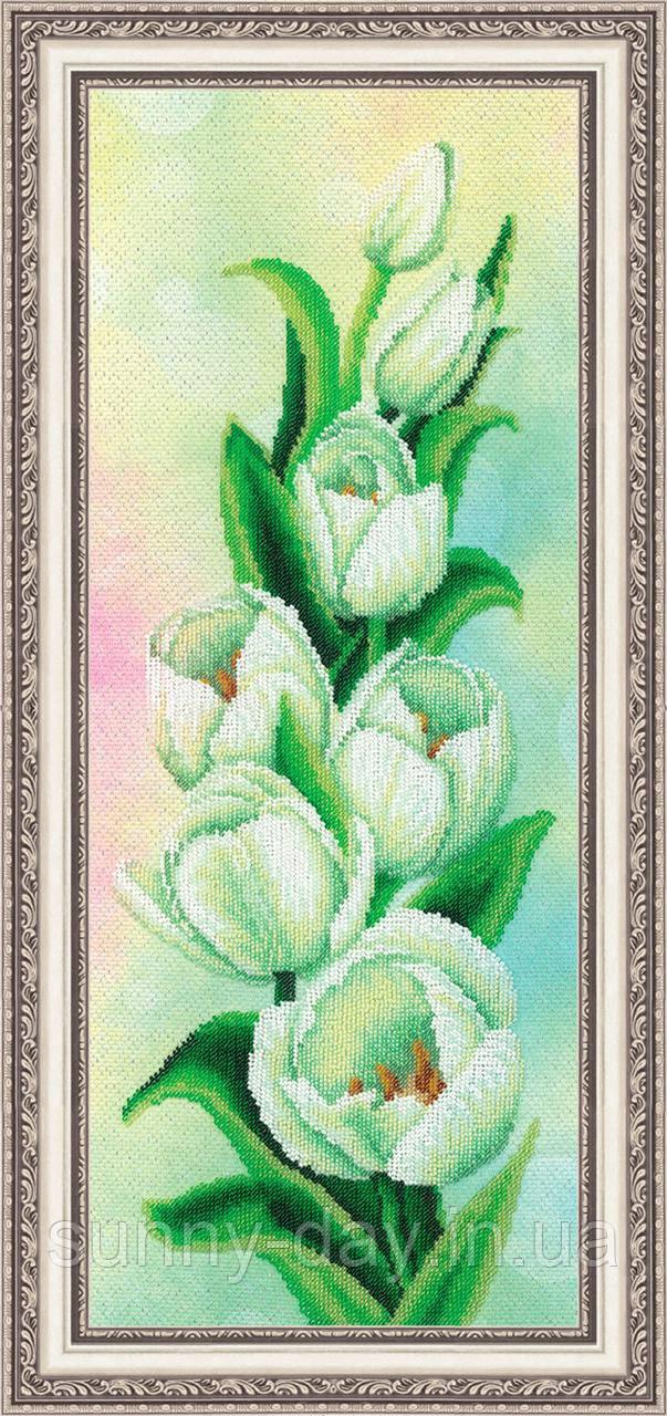 """Набор для вышивания бисером """"Белые тюльпаны"""""""