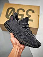 Мужские кроссовки Adidas Yeezy Boost 350 v2 Triple Black Реплика, фото 1