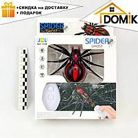 Радиоуправляемый черный паук 1388 на пульте управления   игрушка на радиоуправлении