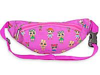Поясная сумка ярко-розового цвета для девочек с принтом LOL