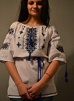 Вышиванка женская.Ткань – домотканое полотно
