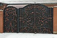 Кованые распашные ворота Modern с калиткой