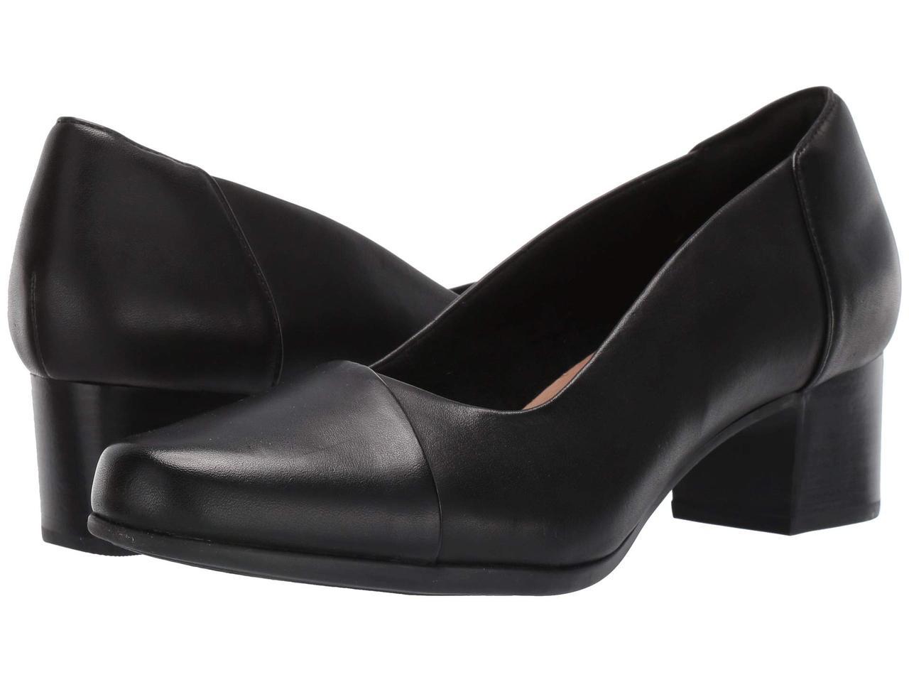 Туфли на каблуке (Оригинал) Clarks Un Damson Step Black Leather