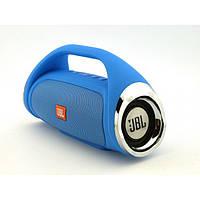 Портативная FM MP3 колонка JBL Boombox mini bluetooth microSD/TF и USB Синяя, фото 1
