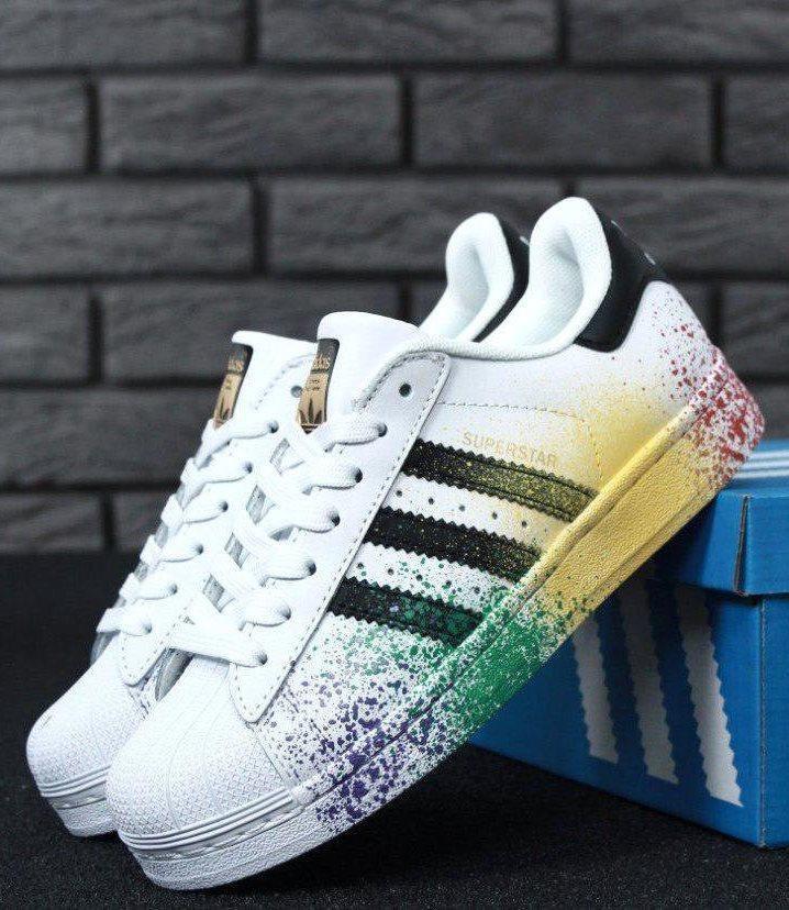 Женские кроссовки Adidas Superstar Rainbow