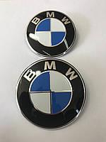 Эмблема BMW на Капот/багажник 8 132375-05 73мм. Бело-синяя