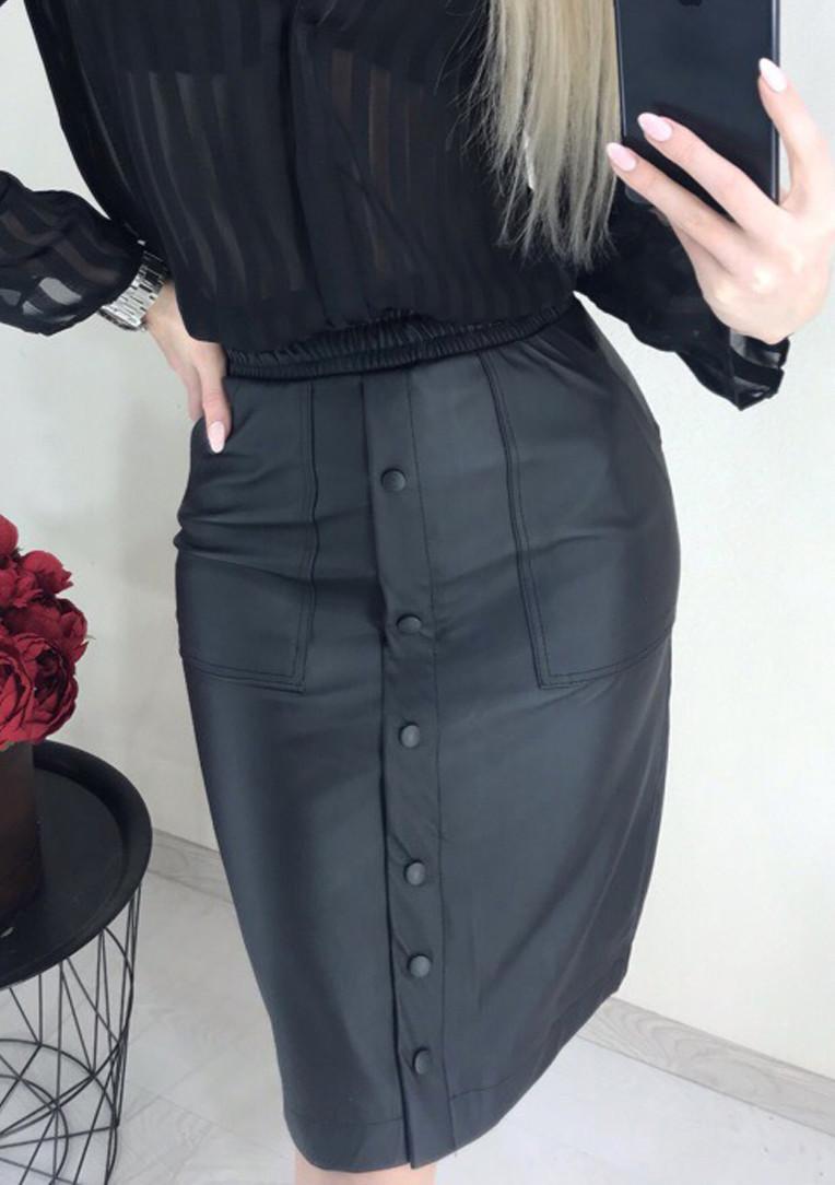 """Модная юбка из кожзама """"Sharm"""""""