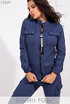Молодёжный спортивный костюм из стрейч джинса С М Л, фото 2