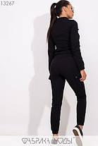 Молодёжный спортивный костюм из стрейч джинса С М Л, фото 3