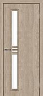 Двери межкомнатные Омис Нота экошпон остекленная, цвет сосна мадейра