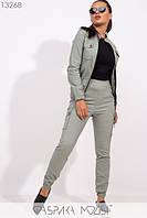 Стильный молодёжный спортивный костюм из стрейч джинса С М Л