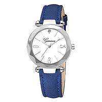 Женские наручные часы Geneva с синим ремешком и белым циферблатом 33.5мм | 88647