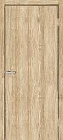 Дверное полотно гладкая глухая экошпон, цвет дуб Саванна