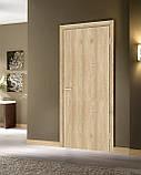Двери  межкомнатные Гладкая глухая экошпон,  цвет дуб саванна, фото 2
