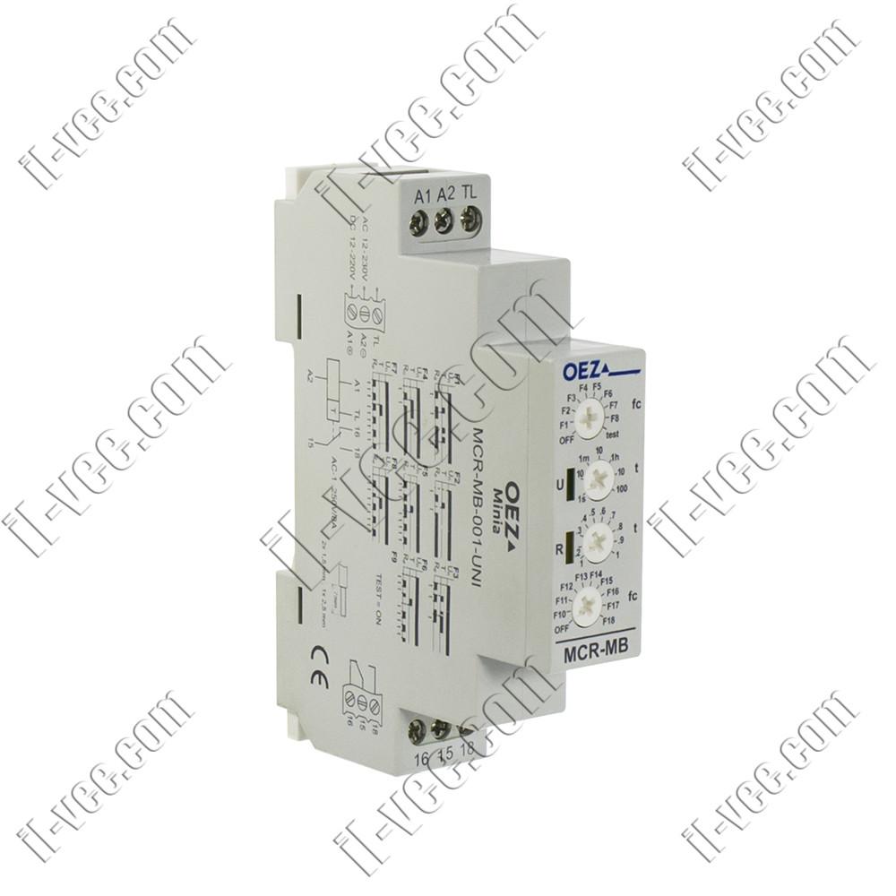 Реле времени многофункциональное OEZ MCR-MB-001-UNI, 12-230V AC/DC