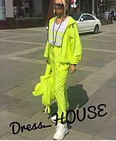 Женский спортивный костюм из неоновой плащевки свободный 5SP687
