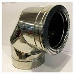Колено 90° из нержавеющей стали в нержавеющем кожухе Версия-Люкс, фото 2