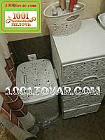 Комод пластиковый кремовый Ажурный, Elif Plastik, Турция, фото 1