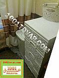 Комод пластиковий кремовий Ажурний, Elif Plastik, Туреччина, фото 2
