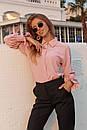 Женская прямая рубашка классического стиля с резинкой на рукавах 73ru275, фото 2