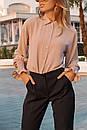Женская прямая рубашка классического стиля с резинкой на рукавах 73ru275, фото 3