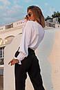 Женская прямая рубашка классического стиля с резинкой на рукавах 73ru275, фото 5
