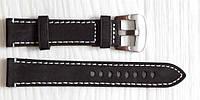 Ремешок для часов BROS (ИТАЛИЯ) из натуральной кожи. Черный 20 мм, фото 1
