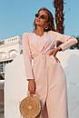 Платье ниже колен приталенное с длинным рукавом 73py103, фото 3