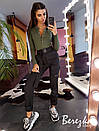 Женский костюм брюки карго и боди из трикотажа рибаны 66ks106E, фото 2