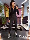 Женский костюм брюки карго и боди из трикотажа рибаны 66ks106E, фото 3