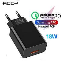 Быстрая зарядка Rock  18 Вт Qualcomm QC 3.0 быстрое зарядное устройство для мобильного телефона