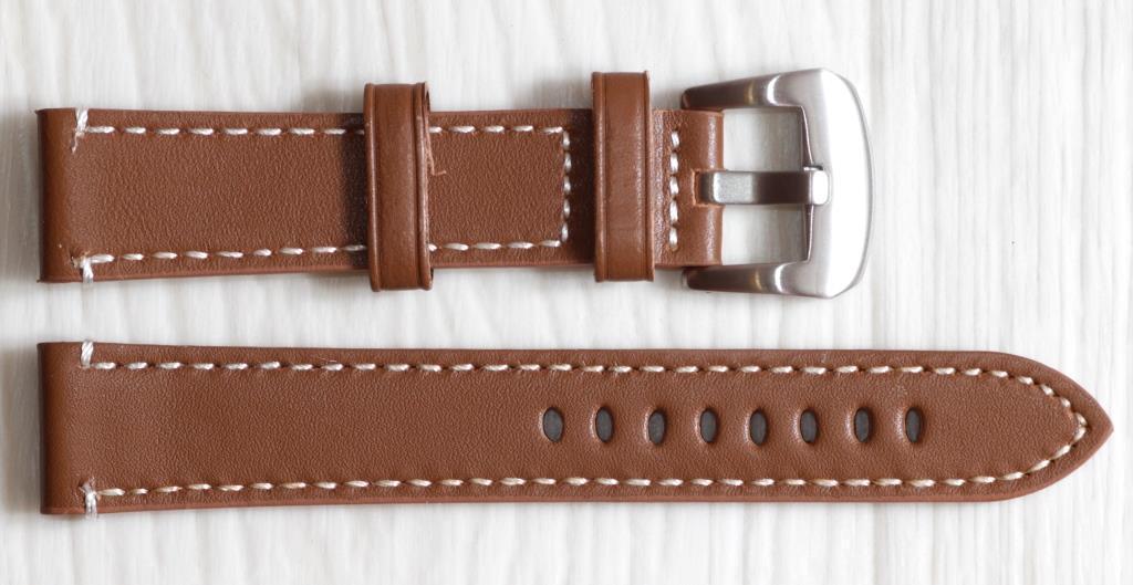 Ремешок для часов BROS (ИТАЛИЯ) из натуральной кожи. Коричневого цвета 20 мм
