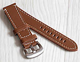 Ремешок для часов BROS (ИТАЛИЯ) из натуральной кожи. Коричневого цвета 20 мм, фото 2