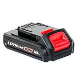 Аккумулятор Li-Ion 18В 1.5Ач для дрели-шуруповерта WT-0328/WT-0331 INTERTOOL WT-0329, фото 2