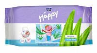 Детские влажные салфетки 56 шт Хеппи с алоэ HAPPY Sensitive&Aloe Vera