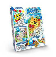 Набор детского творчества Водная раскраска Aqua Painter (укр) AQP-01-01U,02U,03U,04U