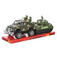 Игрушка детская Набор 333 джип инерц, 17см, танк инерц, 14,5см солдатики, слюда 34*12*11см