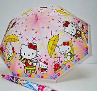 Зонт детский Leader MN001|MN002 Hello Kitty силикон