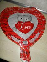 """Фольгированные шары """"Сердце"""", рисунки в ассортименте"""