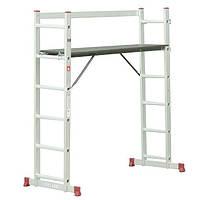 Лестница-платформа алюминиевая мультифункциональная, 5 положений INTERTOOL LT-0027