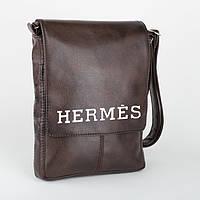 """Сумка мужская с логотипом """"Hermes"""" А4"""