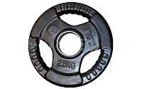 Блины (диск) обрезиненный с хватом 52 мм вес 2,5 кг