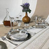Посуда Capital For People пластиковая многоразовая плотная для вечеринки. Полная сервировка стола 102 шт 6 чел