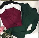 Женская кофта из трикотажа резинки с запахом на груди 68ddet538, фото 3