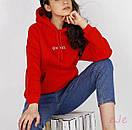 Трикотажное женское худи на флисе с капюшоном 78ddet541, фото 2
