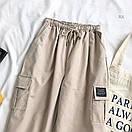 Спортивные женские брюки джоггеры с накладными карманами 77bil367, фото 2