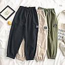 Спортивные женские брюки джоггеры с накладными карманами 77bil367, фото 3
