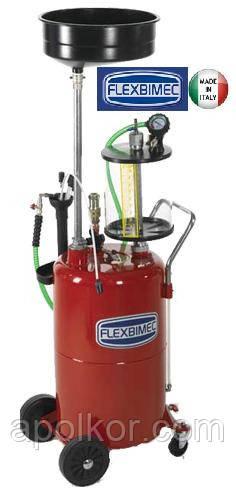 Установка для отсоса и слива отработанного масла объемом 80 л Flexbimec 3198