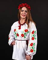 Женская сорочка вышиванка в украинском стиле белого цвета