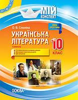 Українська література 10 клас Мій Конспект  1 семестр
